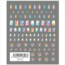 TSUMEKIRA超薄貼紙es-彩色寶石水鑽ES-AQA-101