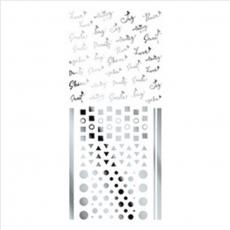 TSUMEKIRA超薄貼紙-ageha.信號英文銀 SG-AGE-107