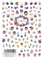 TSUMEKIRA超薄貼紙-Vicky設計 春日花草樂園 NN-VIW-101