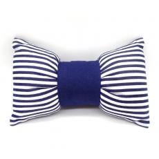 手枕-蝴蝶結(藍條紋)