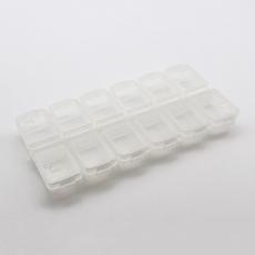 收納盒-上開款12格環保材質白