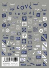 TSUMEKIRA超薄貼紙-剪貼字體(白)NN-COF-101