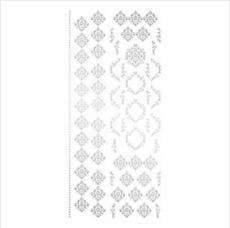TSUMEKIRA超薄貼紙-ageha.大馬士革紋.L銀 NN-AGE-105